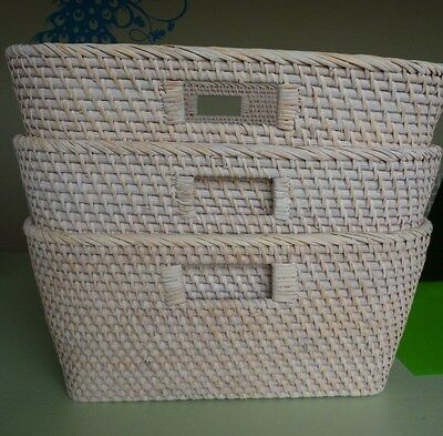 Large storage baskets x 3, natural colour from Country Road in as new condition.