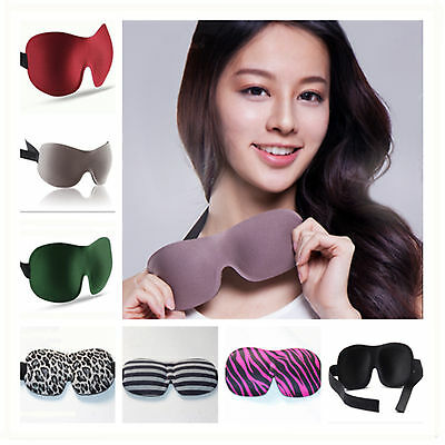 3D Soft Travel Rest Relax Sleeping Aid Padded Shade Cover Blindfold Eye Mask