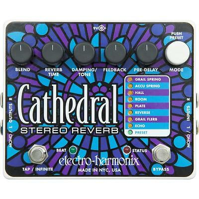 Electro-Harmonix Cathedral Stereo Reverb Guitar Effects Pedal Inc's Aust Adapter