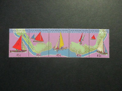 --1994- Cocos  Strip  Of   5 Stamps-  Mint  A1