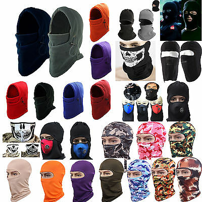Fleece Thermal Sports Motorcycle Bike Balaclava Ski Face Mask Hood Hat Helmet CL