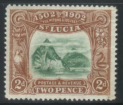ST LUCIA 1902 400th ANNIV OF DISCOVERY M/M CAT £17