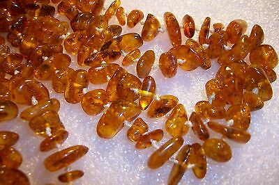 Antique Stunning Genuine Baltic Amber Necklace Xl 150 Centimeters 54.5 Gm