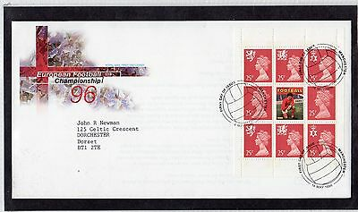 GB 1996 European Football Booklet Pane FDC