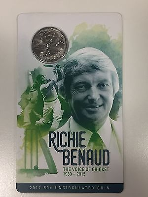 2017 50c Coin The Voice of Cricket Commemorative Richie Benaud Coin