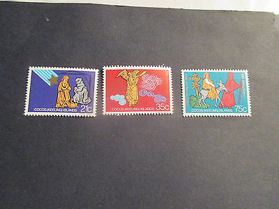 1-1982  -Cocos   Island -Christmas  Issues  --3  Mint  Stamps  -  Mnh