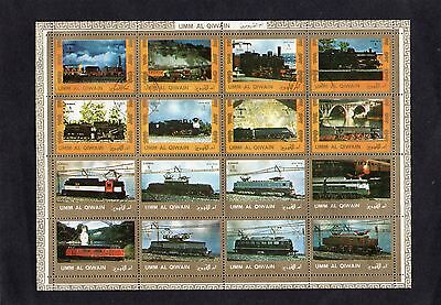 Sheet of Air Mail Railway Stamps UM