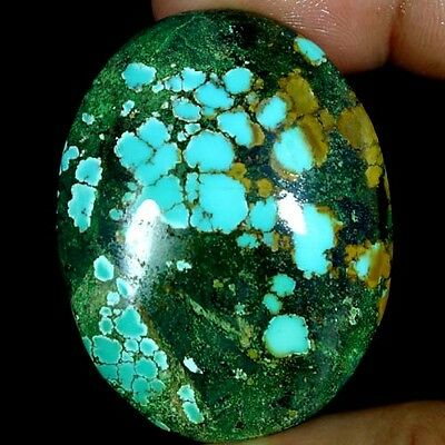 77.60Cts. 100% NATURAL UNTREATED TIBET TURQUOISE OVAL CABOCHON QUALITY GEMSTONES