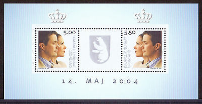GREENLAND 2004 stamps m/s Prince Fredrik & Mary um (NH) mint