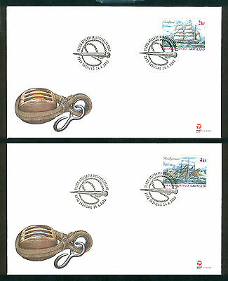 GREENLAND 2002 stamps Ships I on 4 FDC Sailing
