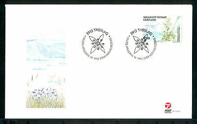 GREENLAND 2004 stamps Edible Plants Flowers on 3 FDC