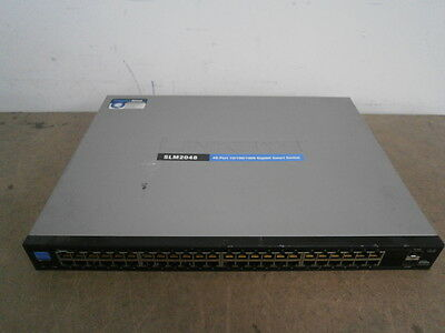 Cisco Linksys SLM2048 48 x 10/100/1000 +2x  SFP Gigabit Smart Ethenet Switch !