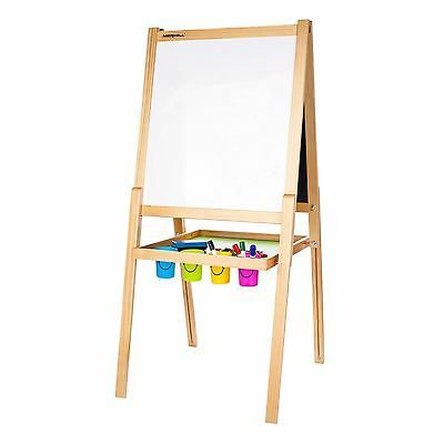 Deluxe Double-Sided Black & White Board Easel & Accessories New Kids