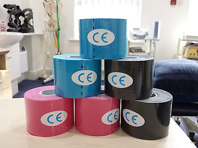 Sports Physio K Tape-Multipack(6)5cmx5m Kinesiology Tape Injury Support