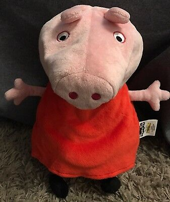 Peppa Pig Travel Pillow Reversible Pink Plush Neck Cushion Head Support Toy