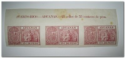 Spain Puerto Rico 1898 revenue Aduanas Customs fiscal Stamp mnh 1012-51 agespots