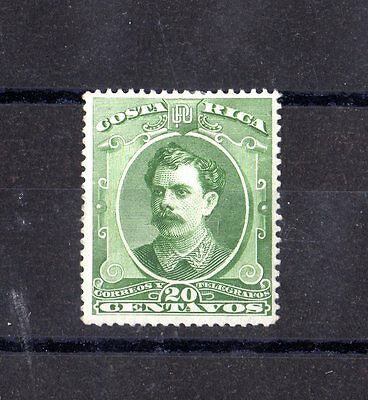 Costa Rica 1889 20c Green Mint MH X4671