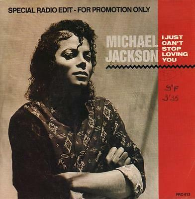 """Michael Jackson I Just Can't Stop Loving ... NET 7""""  record promo"""