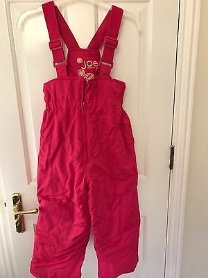 Girls Pink Ski Trousers - From Canada Size Small (6-7 Years)