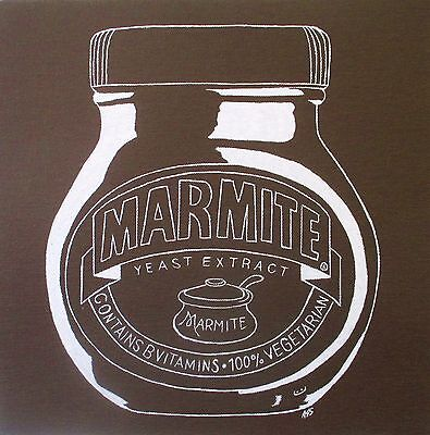 Brown/white Jar Of Marmite - Art Original Painting - Acrylic On Canvas