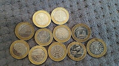 rare £2 coin x11 all different