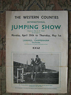 Original Programme The Western Counties Chippenham Equestrian Jumping Show 1952