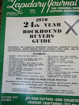 Vtg 1970 Lapidary Journal Rockhound Buyers Guide 24rd Year Reference 290p ANNUAL