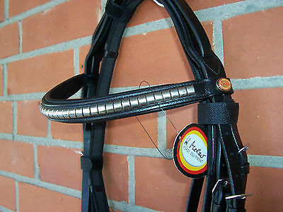 Stirnriemen Kreuth 40 cm Pony VB COB Hans Melzer Horse Equipment Silber Clincher