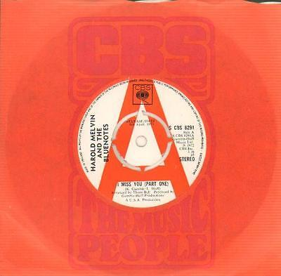 """Harold Melvin & The B... 7""""  record I Miss You - A Label UK promo"""
