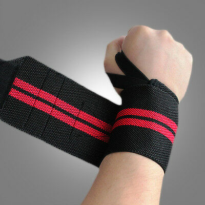 Fitness Support Straps Exercise Wraps Sport Bandage Wrist Protection 35*8cm