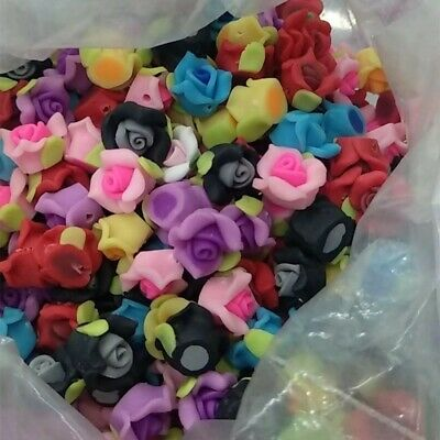 Three petals!8mm/10mm/12mm Mixed Polymer Fimo Clay Flower Spacer Loose Beads
