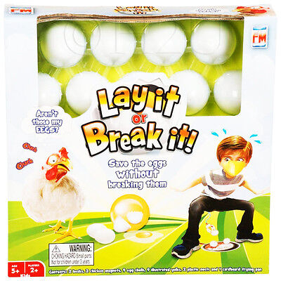 Lay It Or Break it Save The Eggs Fun Play Games Childrens Xmas Gift Balance