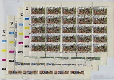 South Africa / Venda #28-31, 161-164 Waterfowl, #96-99 Frogs MNH Sheets $127.50