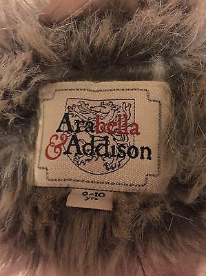 Age 9-10 Yrs girls faux fur leopard print coat from Arabella and Addison