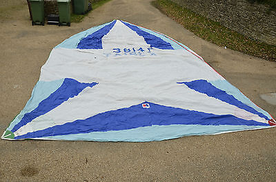 Yacht Spinnaker by Sanders Sails. Approx 30' x 16.5'. Symmetrical Sailing boat