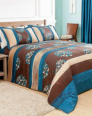 Beautiful double bed throw matching curtains and pillow shams