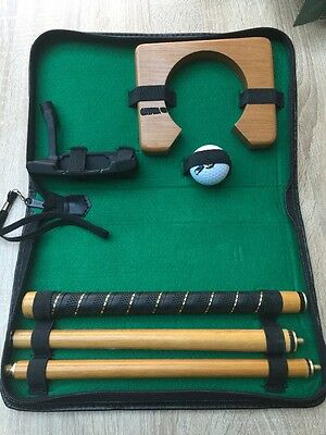 Golf Putting Gift Set Executive Portable Shot Training Aid Putter Home Office