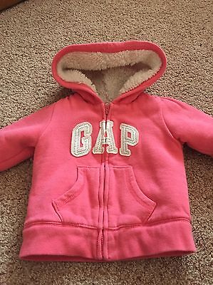 Gorgeous Girls Pink Thick Wooly Gap Hooded Jacket 18-24 Months Warm Winter Coat