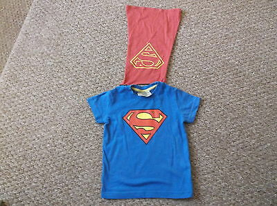 baby boys Next Superman with cape t-shirt age 9-12 months