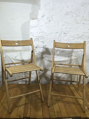 2 x Folding Wooden Chairs