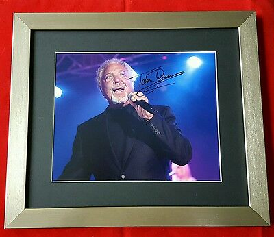 Hand Signed Framed and Mounted Photograph of Tom Jones (Cert. Authenticity)