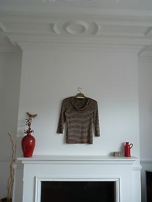 Ladies Lovely Phrase Eight Striped Top Size 12 Vgc
