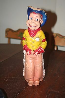 """Vintage 1950's Howdy Doody Squeeze Toy 13"""" High"""