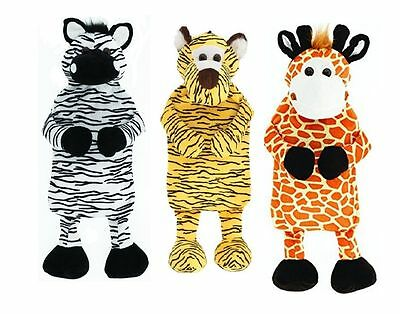 Huggables Cosy Plush 2 Litre Hot Water Bottle Novelty Animal Cover - 3 designes