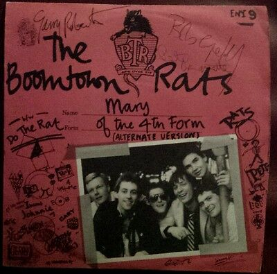 The Boomtown Rats, 1977 fully signed 6 members.