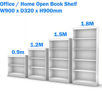 NEW Office / Home Open Bookcase Book Shelf & Office Furniture Grey High: 900mm