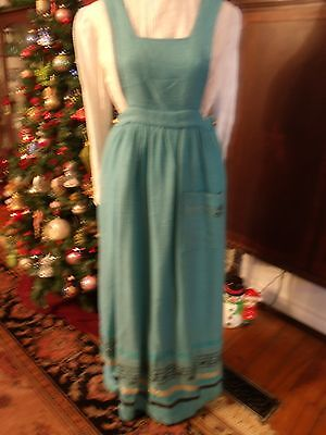 Unique Vintage  Jumper Floor Length Hand Woven Fabric - Song Note Accents Look!!