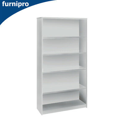 NEW Office/Home Open Bookcase Book Shelf & Office Furniture White Height 1800mm