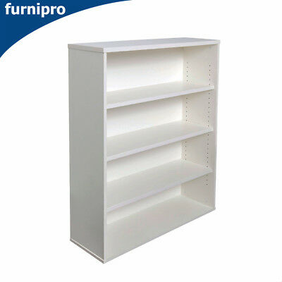 NEW Office/Home Open Bookcase Book Shelf & Office Furniture White Height 1500mm