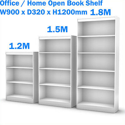 NEW Office/Home Open Bookcase Book Shelf & Office Furniture White Height 1200mm